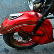 Indian Motorcycle Fender In Red Poster