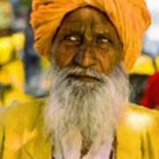 Indian Old Man Poster