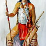 Indian With Spear And Arrows Poster
