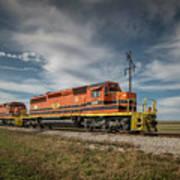 Indiana Southern Railroad Locomotives At Edwardsport Indina Poster