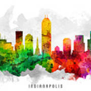 Indianapolis Indiana Cityscape 12 Poster
