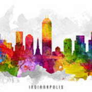 Indianapolis Indiana Cityscape 13 Poster