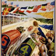 Indianapolis Motor Speedway Vintage Poster 1909 Poster