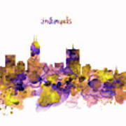 Indianapolis Skyline Silhouette Poster