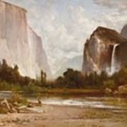 Indians Fishing In Yosemite Poster