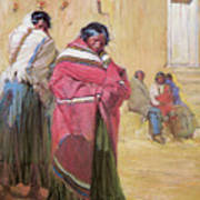 Indians Outside Taos Pueble Poster