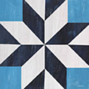 Indigo And Blue Quilt Poster