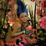 Indigo Featherdust Poster