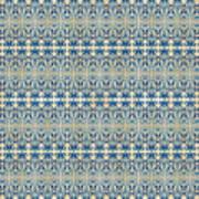 Indigo Ocean - Caribbean Tile Inspired Watercolor Swirl Pattern Poster