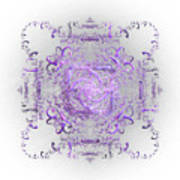 Indulgent Purple Lace Poster