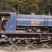 Industrial Steam Engine Poster