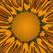 Ink Sunflower Poster