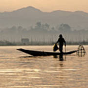 Inle Lake Fisherman Poster