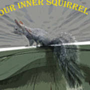 Inner Squirrel Art #2 Poster