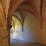 Inside A Monastery Dordogne France  Poster