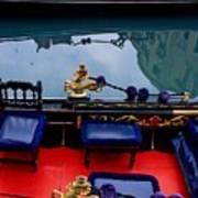 Inside Gondola In Venice Poster
