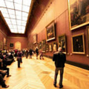 Inside Louvre Museum  Poster by Charuhas Images