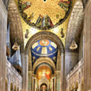 Inside The  Basilica Of The National Shrine Of The Immaculate Conception Poster
