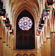 Inside The National Cathedral Poster