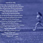 Inspiration For Today Runner  Poster