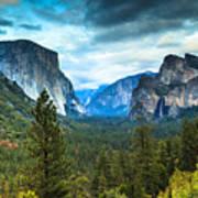 Inspiration Point Yosemite Poster