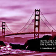 Inspirational - Nightfall At The Golden Gate Poster