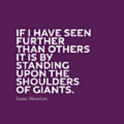 Inspirational Quotes Series 007 Isaac Newton Poster