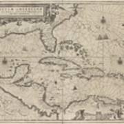 Insulae Americanae In Oceano Septentrionale Poster