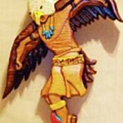 Intarsia Eagle Dancer Poster by Russell Ellingsworth