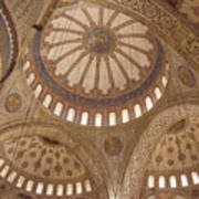 Inter Domes Of Sultan Ahmed Mosque Poster