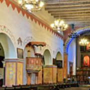 Interior Image Of San Juan Bautista Mission Poster