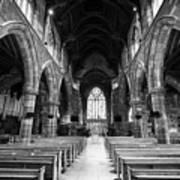 interior of st martins church Birmingham UK Poster