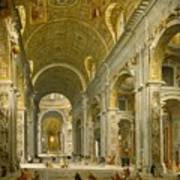 Interior Of St. Peter's - Rome Poster