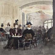 Interior Of The Concert Rouge Poster by Henri Laurent Mouren