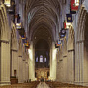 Interior Of The National Cathedral Poster
