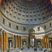 Interior Of The Pantheon Poster