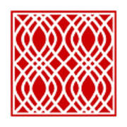 Intertwine Latticework With Border In Red Poster