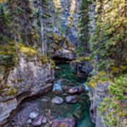 Into The Heart Of Maligne Canyon Poster