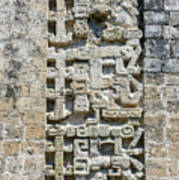 Intricate Details Of Mayan Ruins Poster