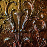 Intricate Wood Carving On Wall Panel At Swannonoa 4407vt Poster