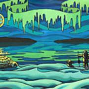 Inuit Love Arctic Landscape Painting Poster