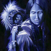 Inuit Mother And Child Poster