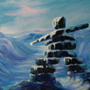 Inukshuk My Northern Compass Poster