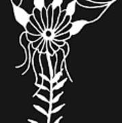 Inverted Small Flower Poster