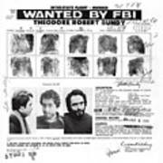 Investigator's Copy - Ted Bundy Wanted Document  1978 Poster