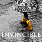 Invincible - A Story Of Guts - Determination - And Goloshes Poster