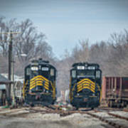 ioneer Lines PREX 912 and 806 at Evansville Indiana Poster