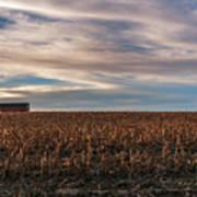 Iowa Corn Fields In The Fall Poster