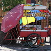 Iquique Chile Street Cart Poster