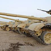 Iraqi T-72 Tanks From Iraqi Army Poster